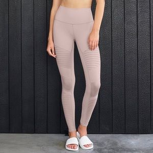 Alo Yoga Lavender high waist Moto leggings